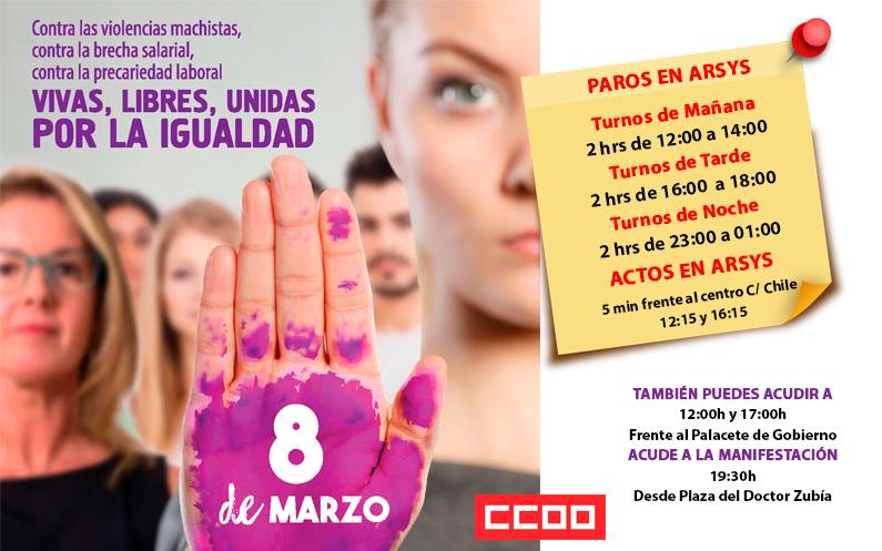 8 de marzo – Día de la Mujer Trabajadora
